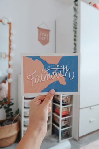 I left my heart in Falmouth print