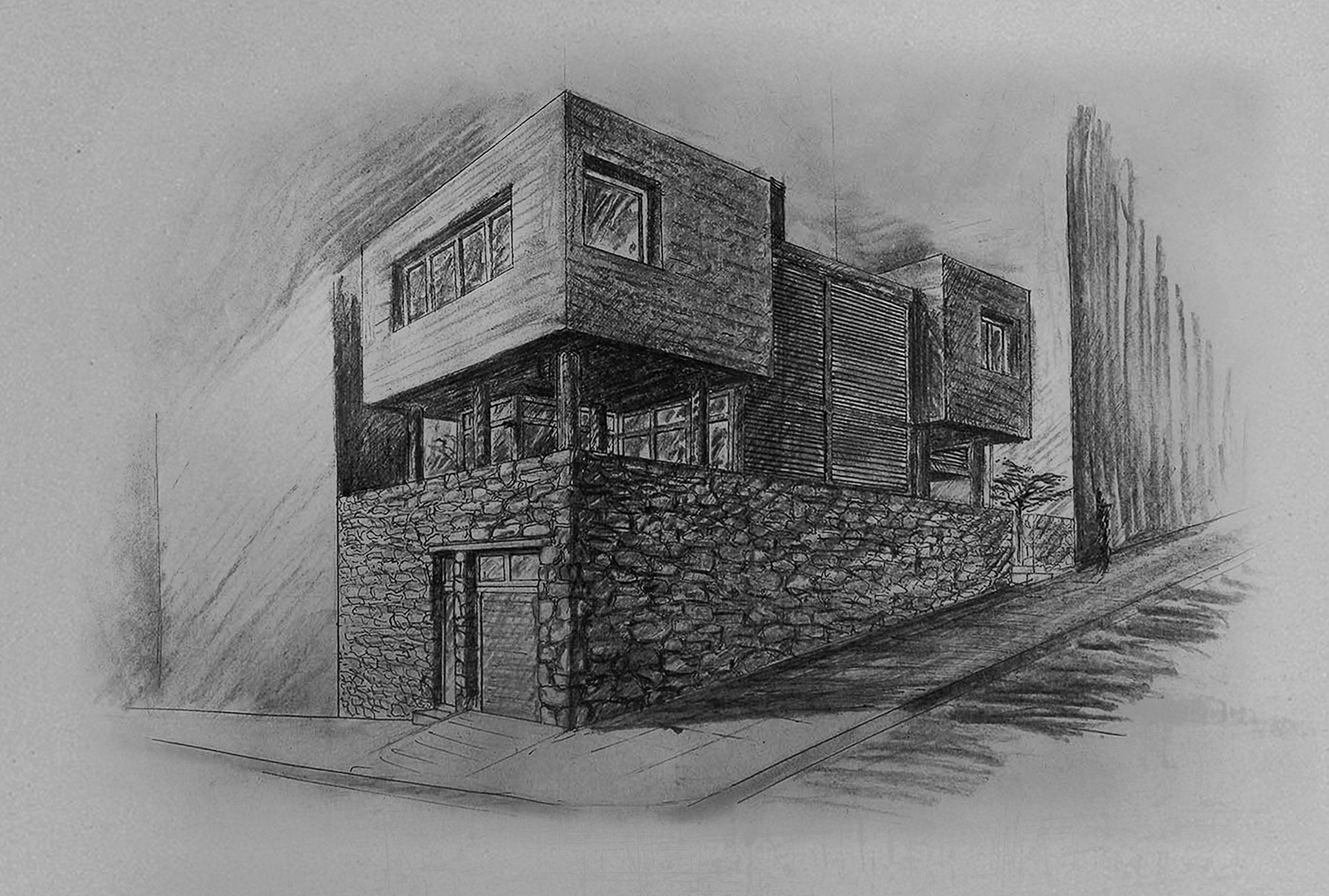 Residence in Filopappou-exterior