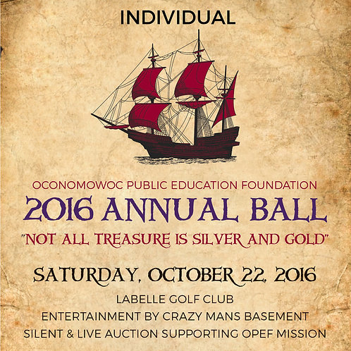 2016 Annual Ball Single Ticket