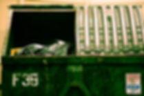 Benne à ordures des ordures