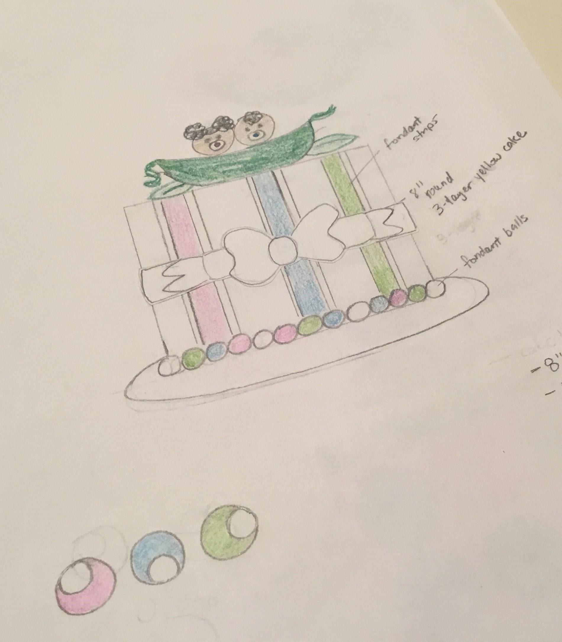Peas in a Pod Sketch