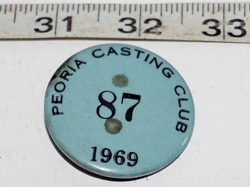 1969 Peoria Casting Club Pin