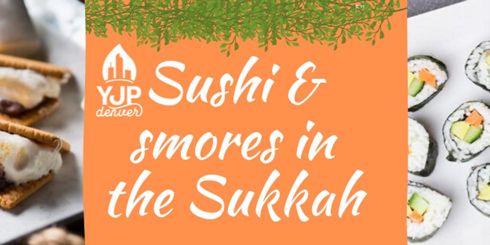 YJP Sushi 'n' Smores in the Sukkah