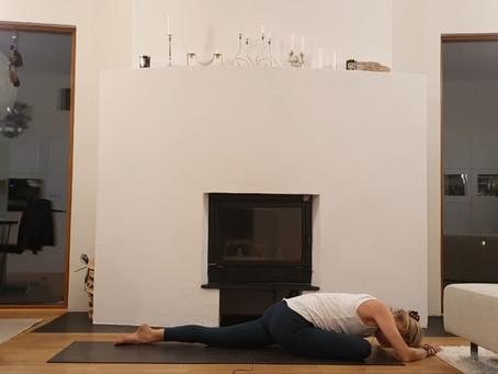Yogasekvens för att varva ner inför natten