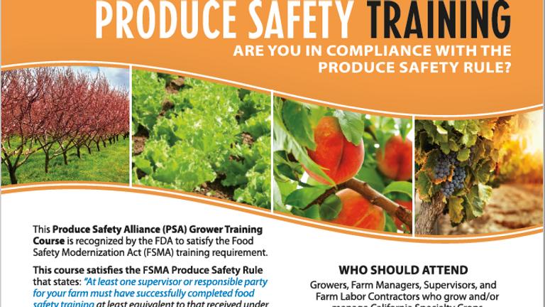 Produce Safety Training - Spanish Session