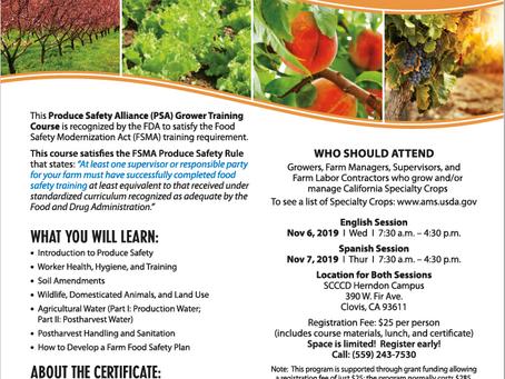 Produce Safety Training - English Session