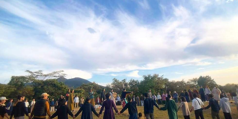 倶知安での祈りの時間とドラムサークル
