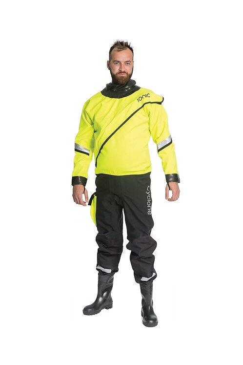 Cyclone Pro R1 Drysuit with Safety Wellingtons