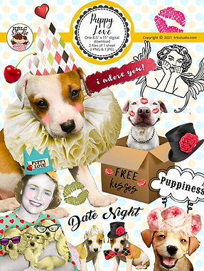 Puppy Love - Single Collage Sheet