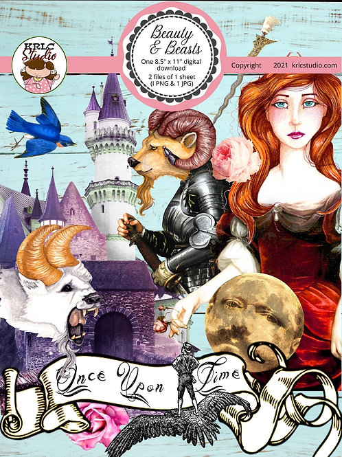 Beauty & Beasts - Single Collage Sheet