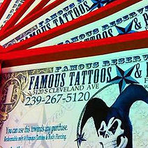Buy Famous Gift Certificates