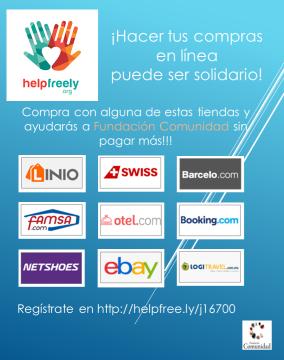 Ayuda a Fundación Comunidad comprando en línea con Helpfreely