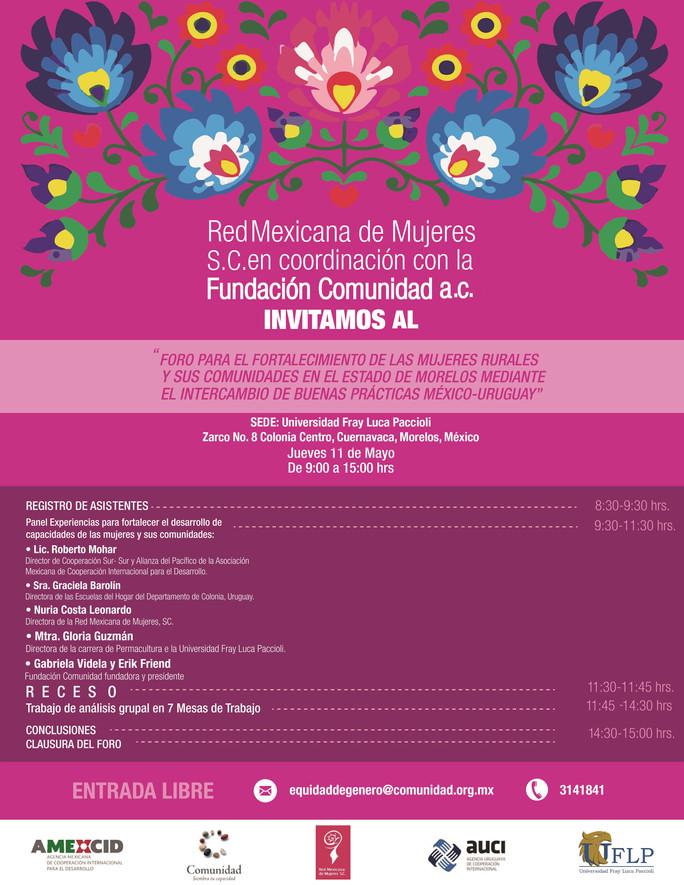 Invitación al Foro para el fortalecimiento de las mujeres rurales