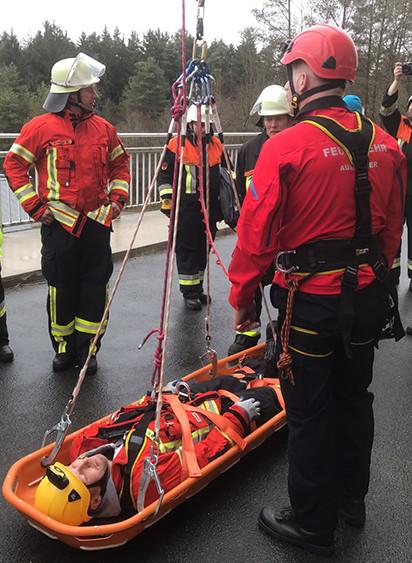 Schulung bei der Feuerwehr
