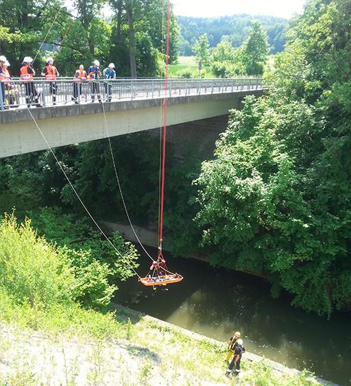 Notfall unter Brücke