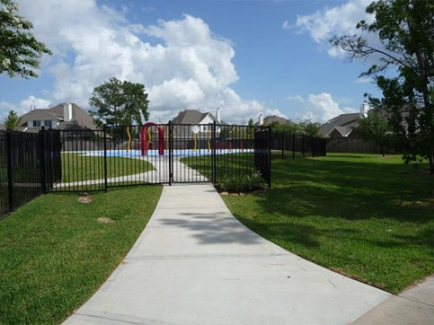 Rod Iron Fence Installation and Sidewalk Installation
