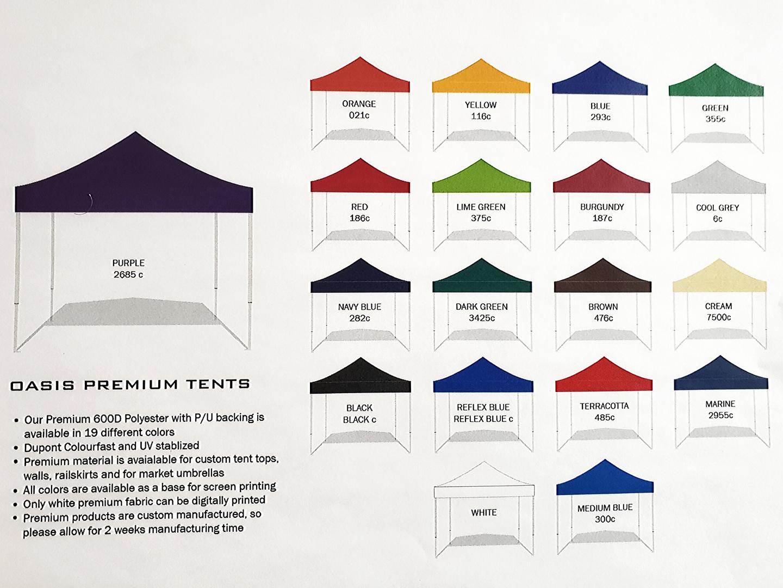 Pop-up tent Colours