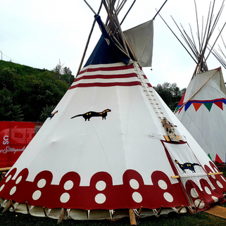 Red Black Weasel Tipi