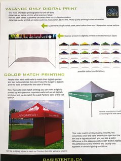 Pop-up Tent Valance page