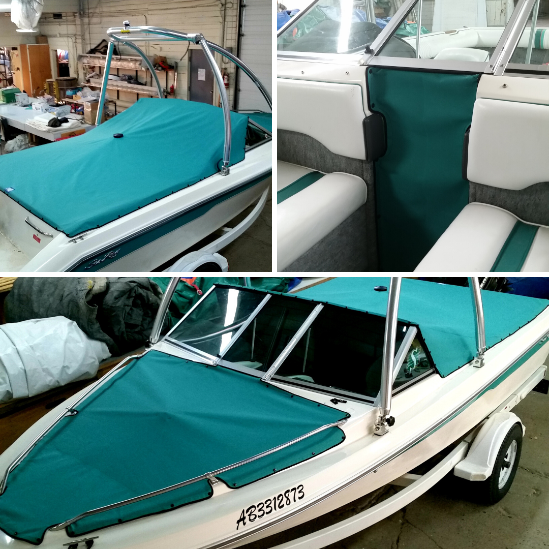Green Boat Cover