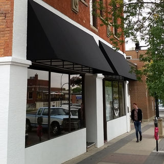 Black Commercial Awning