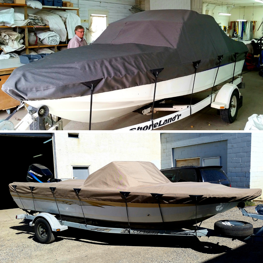 Brown Boat Cover