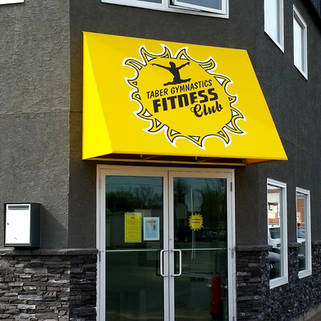 Taber Fitness Club Commercial Awning
