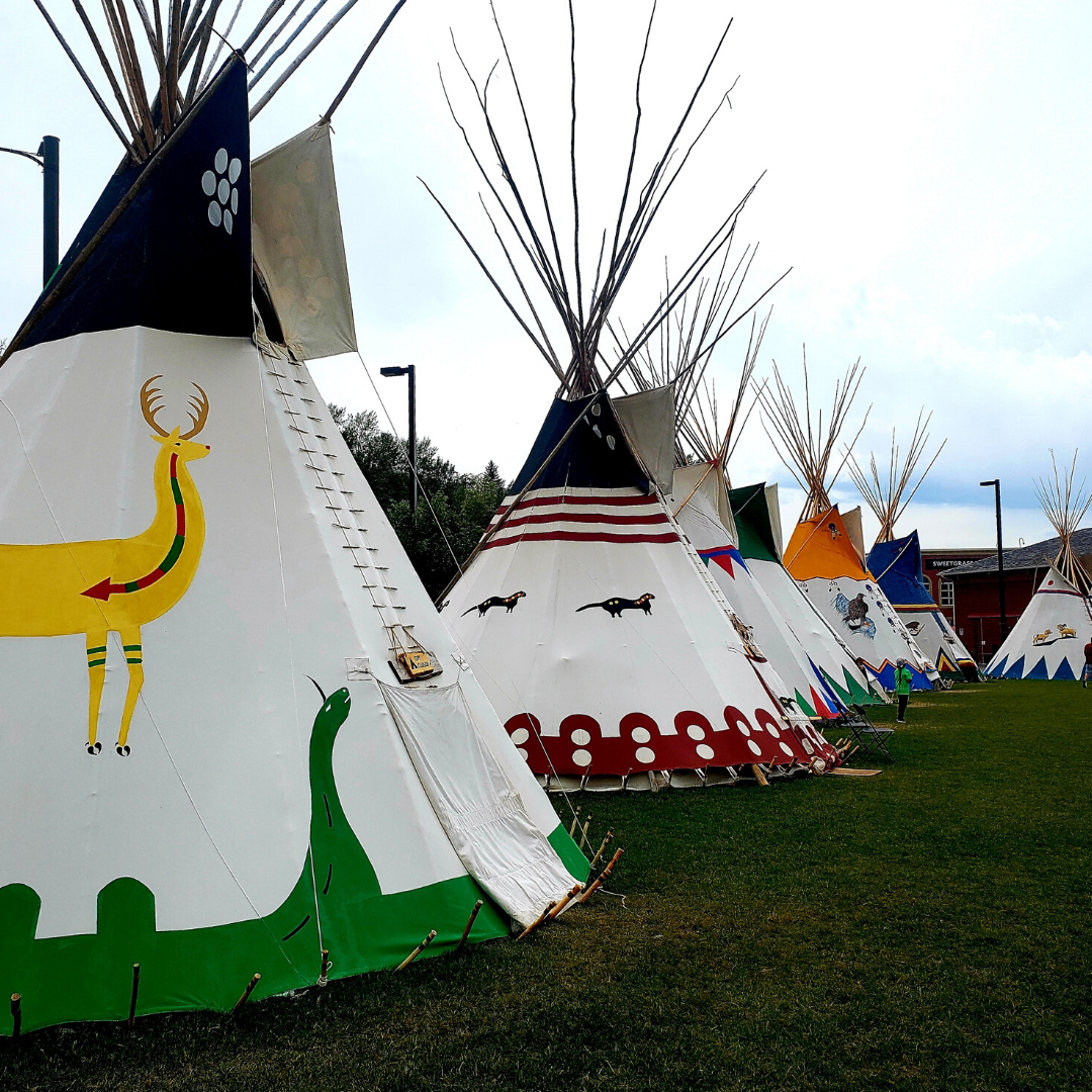 Line of Tipis