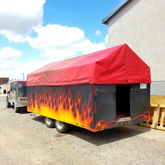 Custom Food Truck Cover Repair