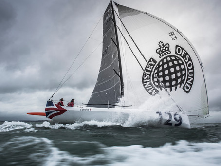Jack Bouttell and Gildas Mahé team up to race 'Concise 8' in the 2015 Transat Jacques Vabre