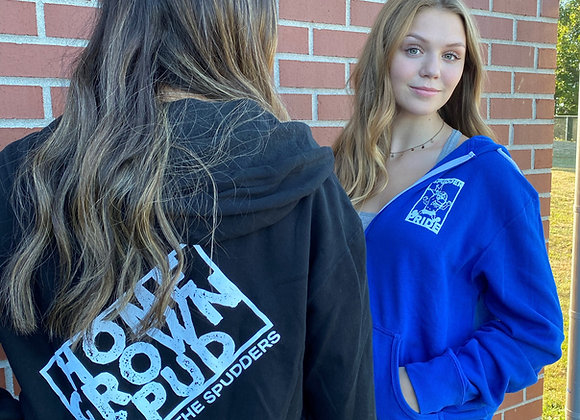 """""""Home Grown Spud"""" Full Zip Sweatshirt with hood"""