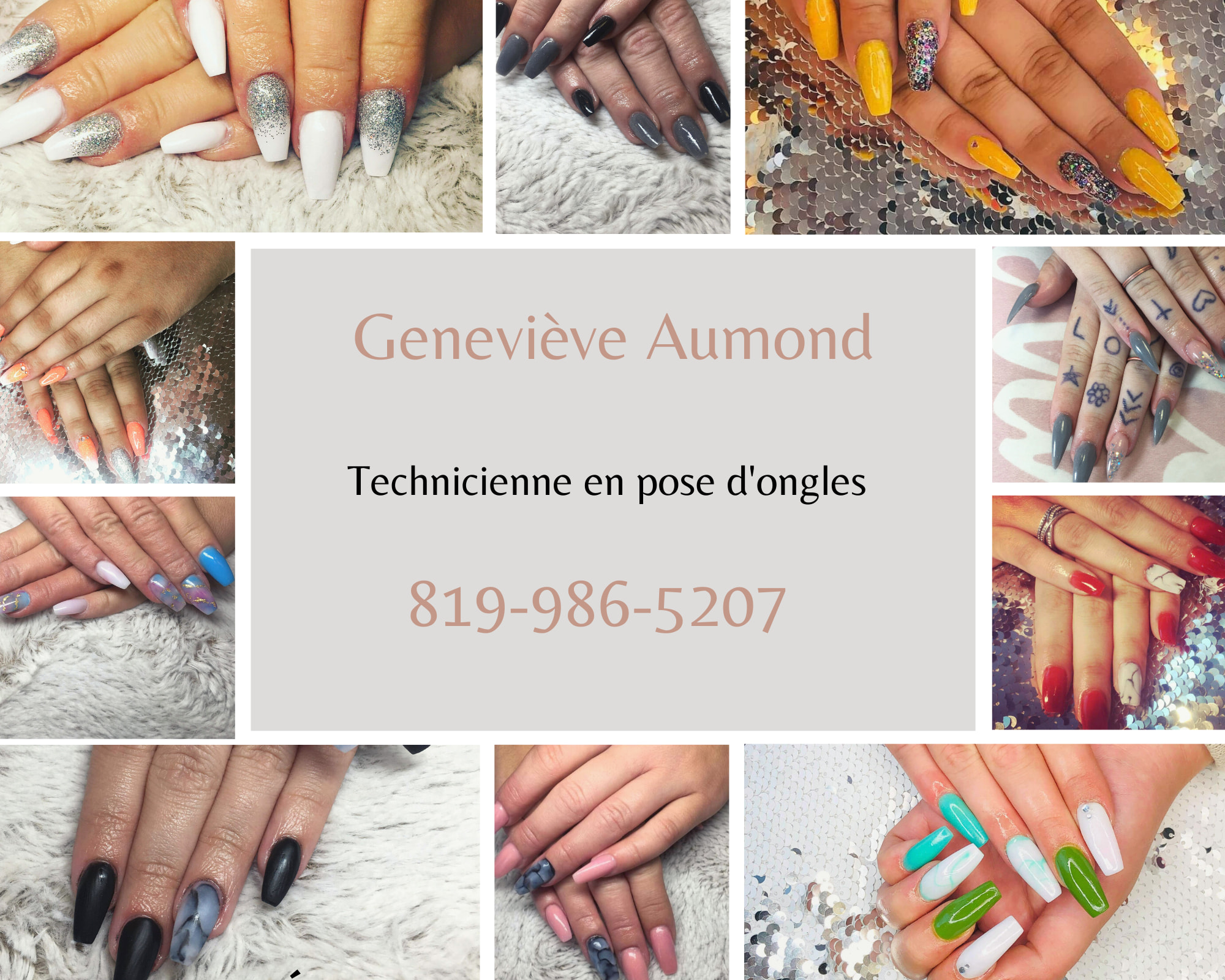 Pose d'ongles 55.00 $