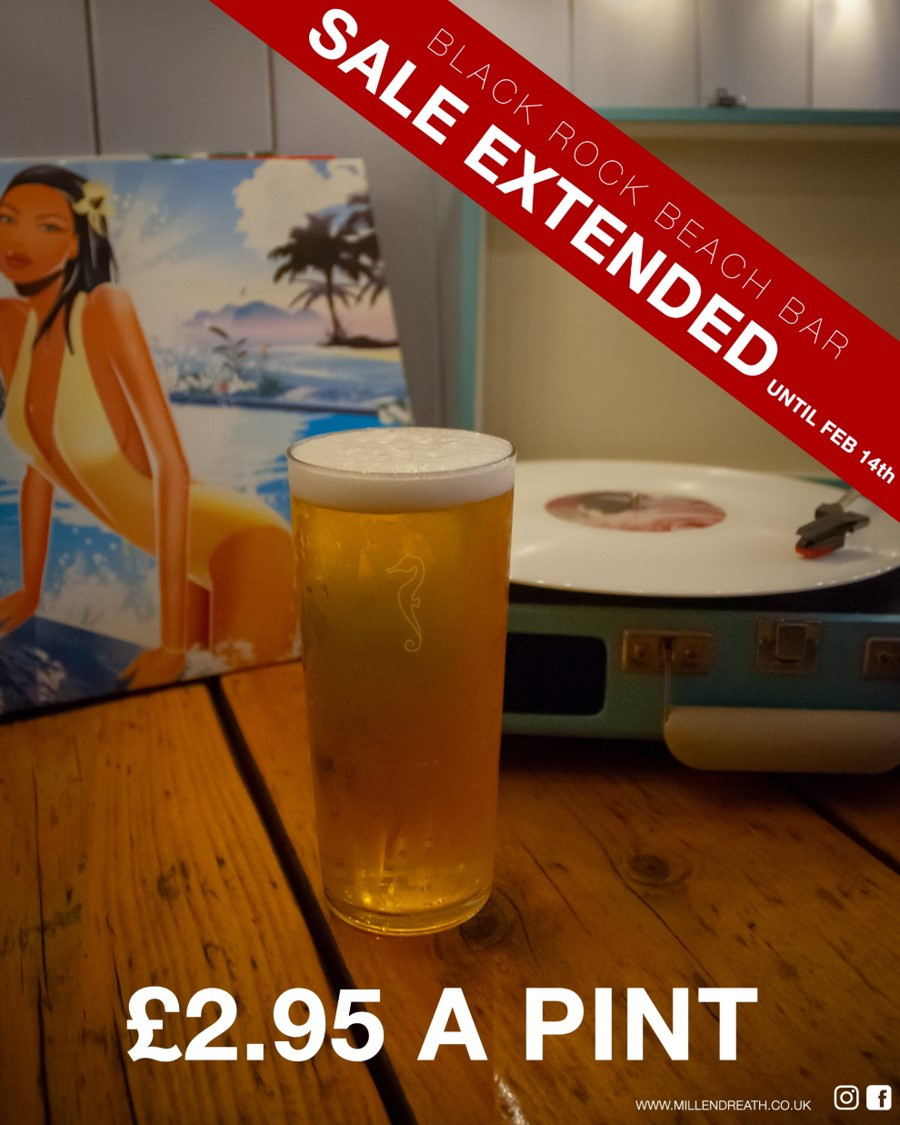 Sale extended until Febraury 14th on all draught beer