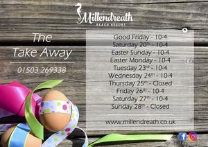 Millendreath Beach now has a Take Away!