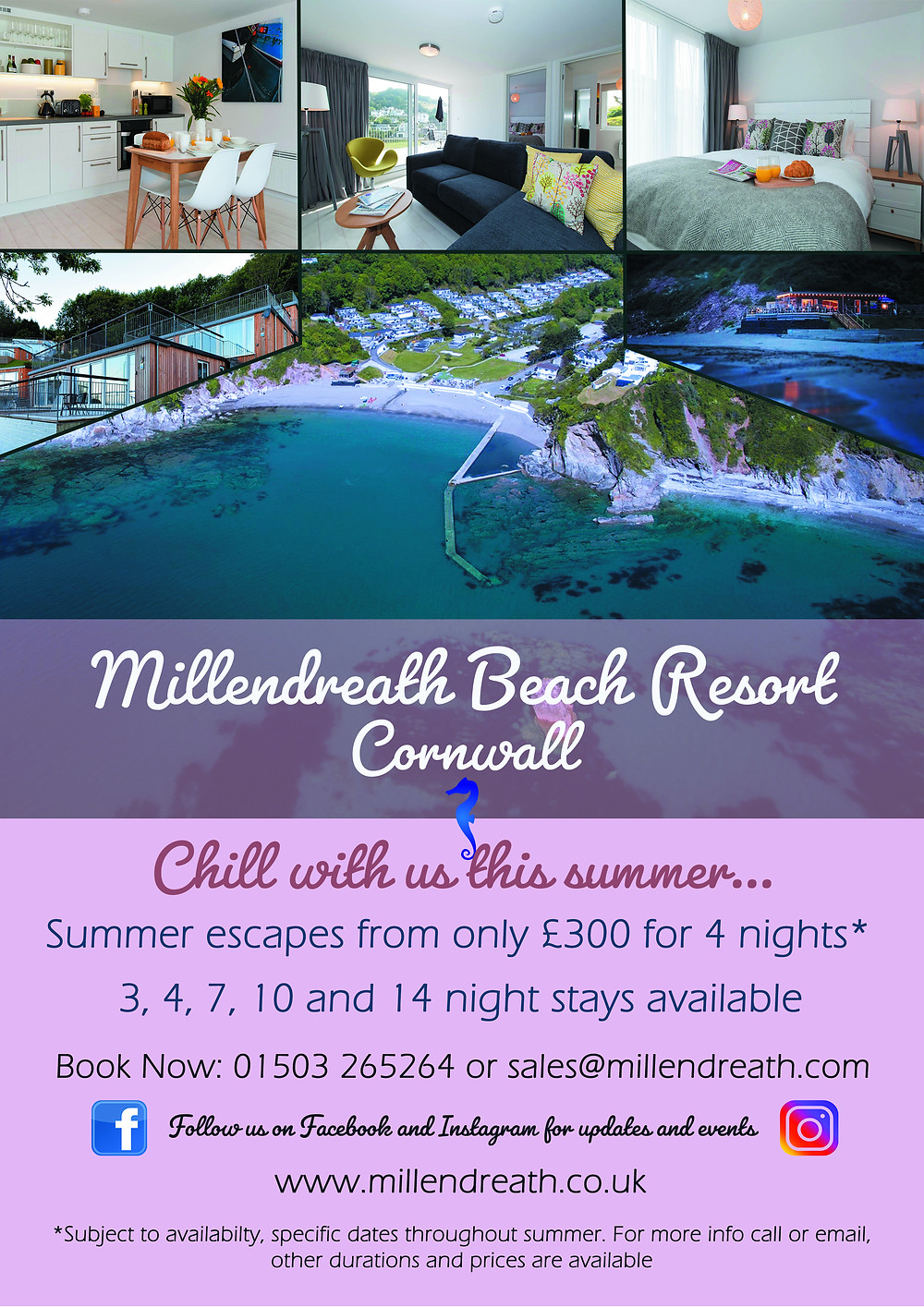 Holidays at Millendreath Beach Resort this summer from only £309 for a short break
