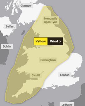 Storm Freya to bring yellow weather warnings
