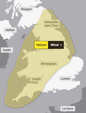 Strom Freya bringing in Yellow Weather Warnings for the UK