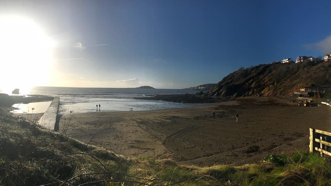 Sunny Morning on Millendreath Beach