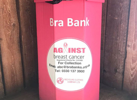 Recycle your old bras and raise money for Against Breast Cancer