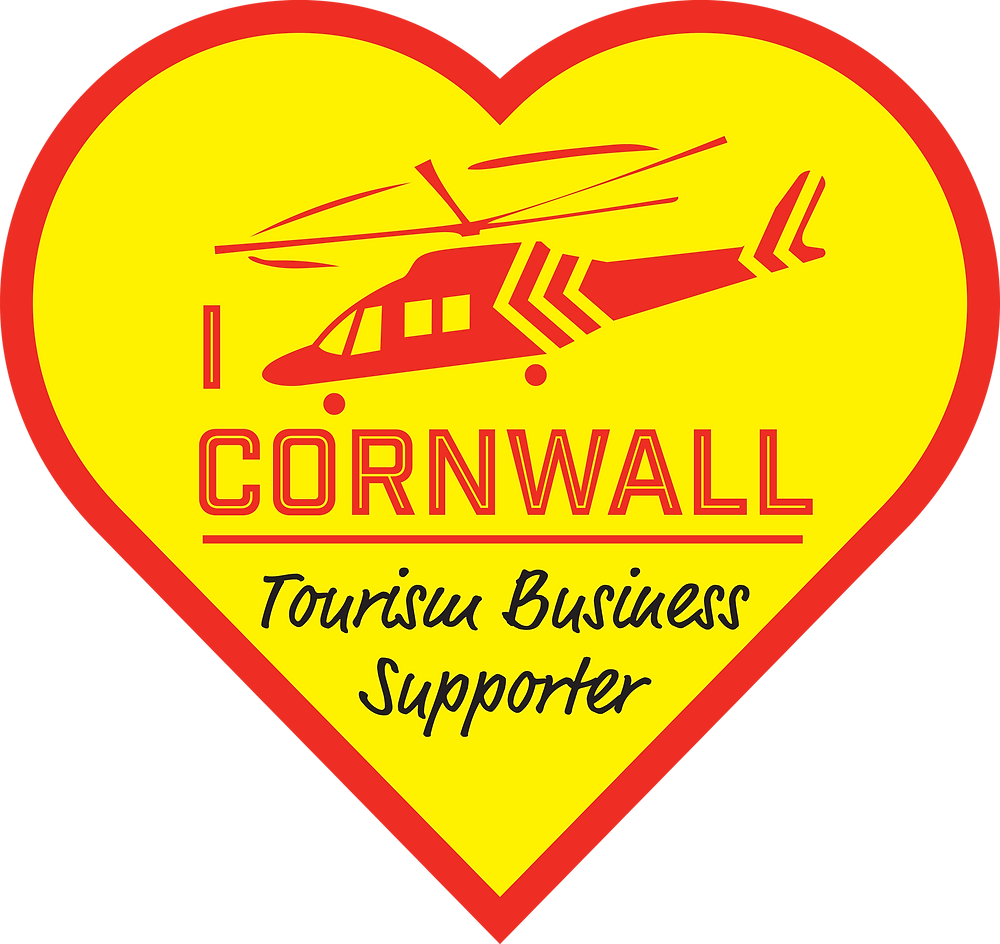 Tourism Business Supporter or Cornwall Air Ambulance Logo