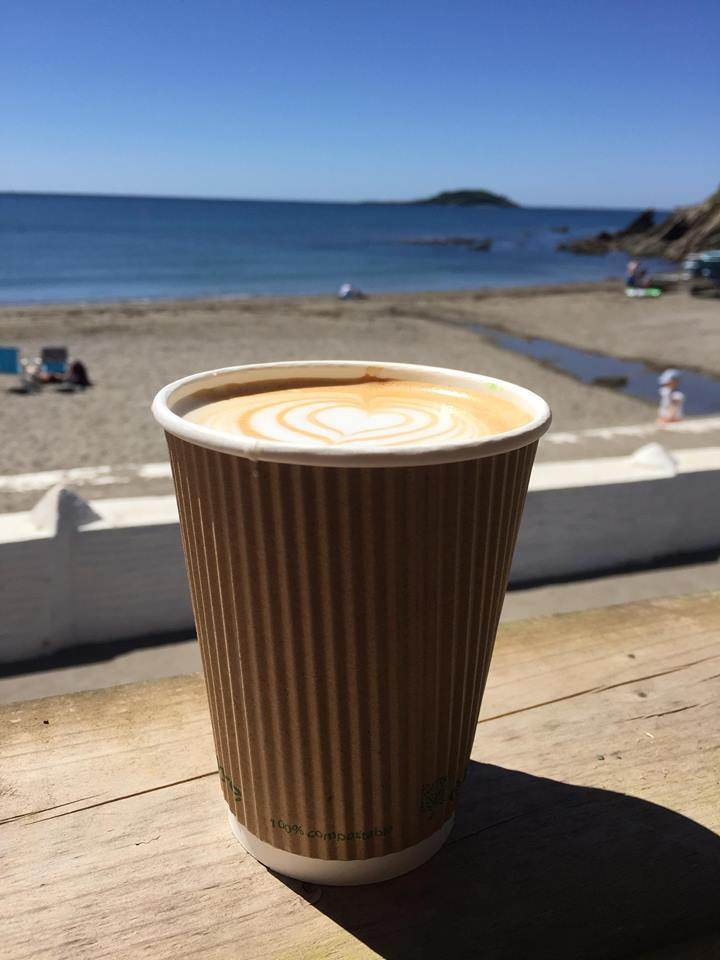 Grab yourself a latte at the Bistro on the Beach at Millendreath Beach in one of our Edenware fully compostable cups!