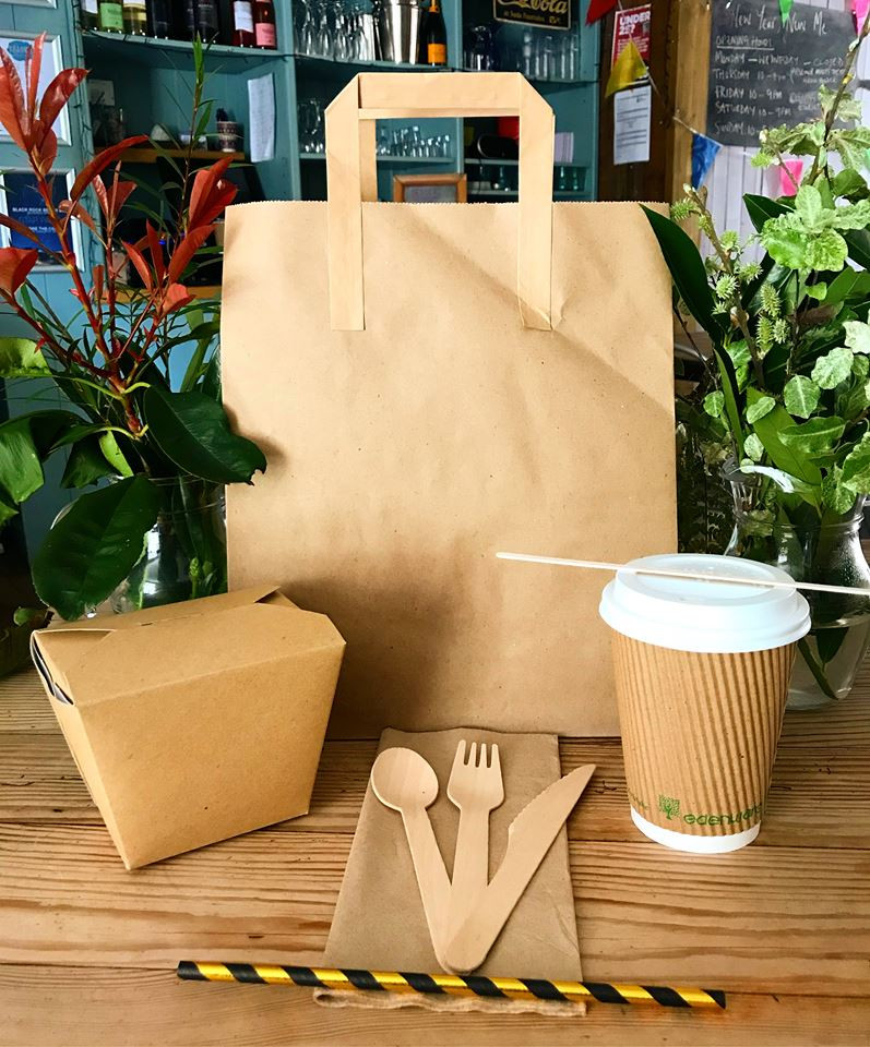 Our Bistro on the Beach uses only sustainable take away containers for all our take out needs, be it compostable, paper or wooden.