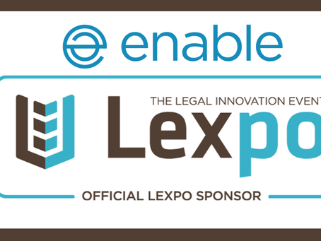 Enable are proud to be sponsoring the Lexpo'19 event on Monday 8th and Tuesday 9th April.