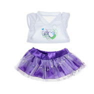 16 Inch Purple Passion Hearts with Skirt