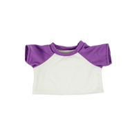 16 Inch White and Purlple Shirt.png