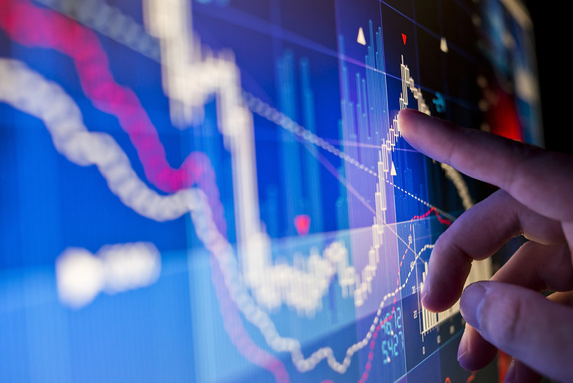 株式市場のグラフ