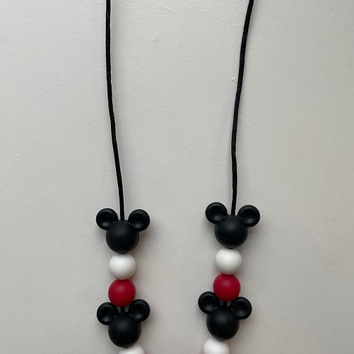 Mouse Ears Teething Chewy Necklace