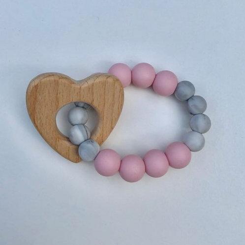 Pink Heart Rattle