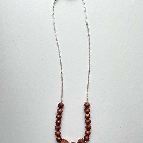 Marble Bronze Necklace