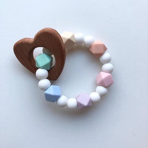 Rainbow Heart Rattle
